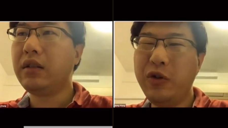 Dong Wang, da Universidade Nacional de Cingapura, acabou dando aula por 2 horas sem ser ouvido pelos alunos - Reprodução/TikTok/queen_yx_