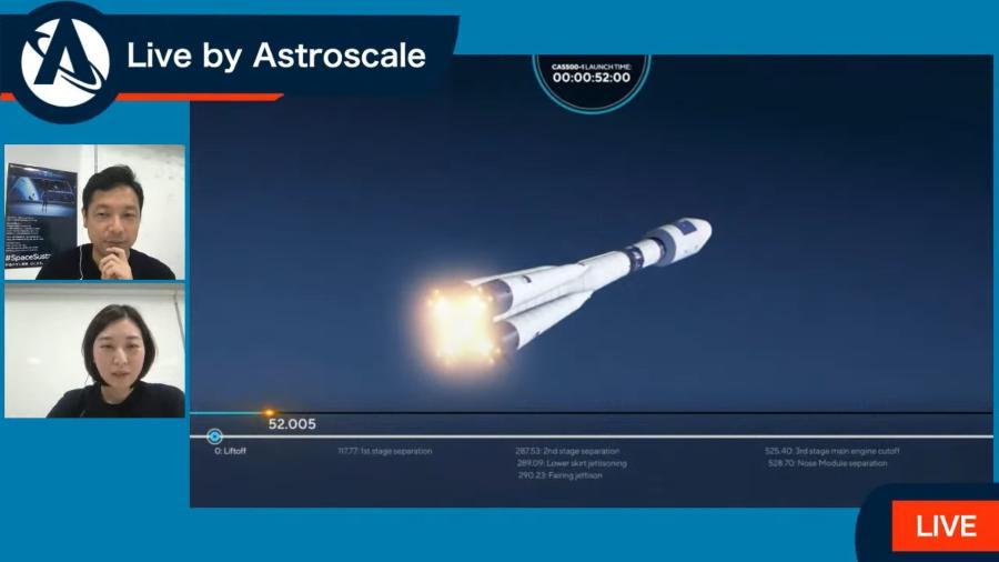 """Foguete com """"caminhão do lixo"""" espacial foi lançado pela Astroscale - Reprodução/YouTube"""