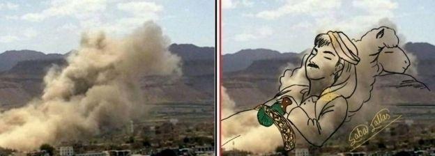 Trabalhos também retratam pessoas do Iêmen em situações de paz