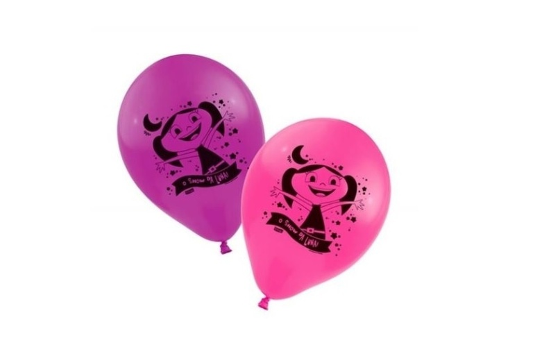 """""""O Show da Luna"""" chegou também ao setor de festas infantis. A Festcolor lançou uma linha com artigos decorativos, como as bexigas nas cores rosa e lilás. A embalagem com 25 unidades é vendida por R$ 37,49 no site do Extra"""