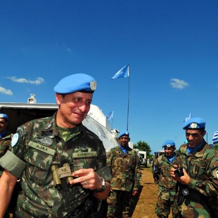 O general Ajax Porto Pinheiro ex-comandante da força de paz da ONU no Haiti