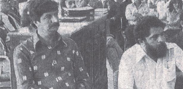 Jacó Bittar e Lula em audiência em Manaus em 1984 devido aos incidentes no Acre quatro anos antes