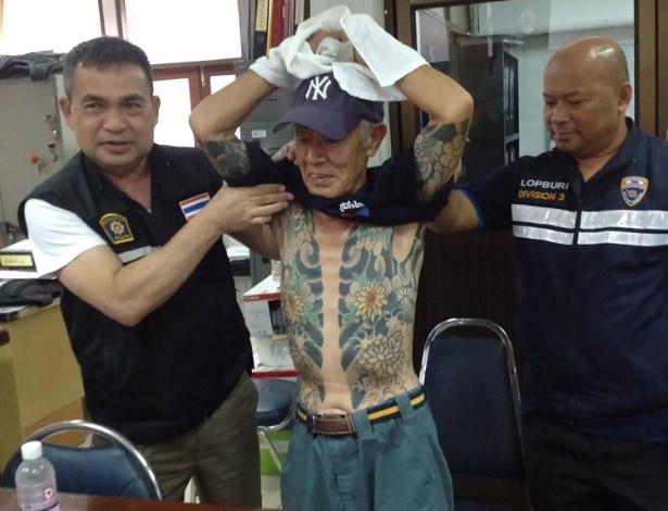 10.jan.2018 - Shigeharu Shirai, de 72 anos, foi preso na quarta-feira em Lopburi