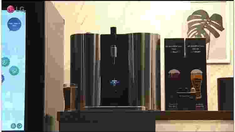 LG Homebrew, cervejaria expresso que faz cerveja com cápsulas - Reprodução