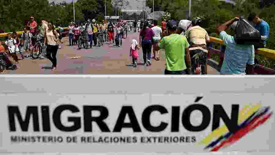 11.fev.2019 - Posto fronteiriço entre Colômbia e Venezuela - AFP