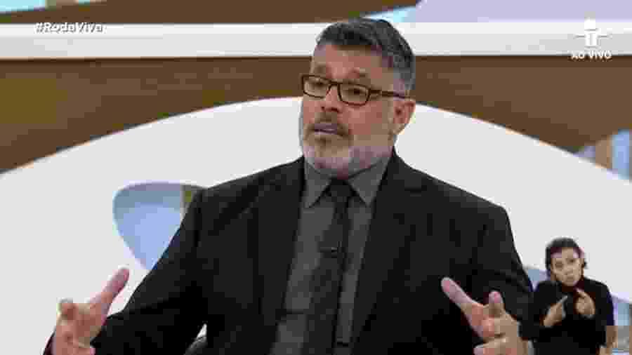 O deputado federal Alexandre Frota (PSDB-SP) no programa Roda Viva, da TV Cultura - Reprodução/TV Cultura