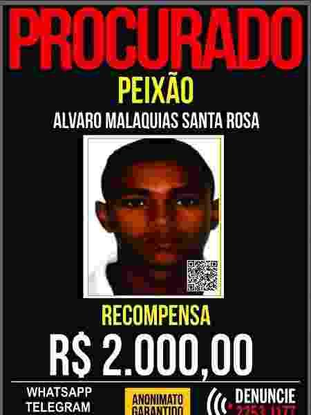 Álvaro Malaquias Santa Rosa, o Peixão, é suspeito de ordenar morte de oito jovens cujos corpos foram atirados para os porcos - Divulgação/Polícia Civil do RJ