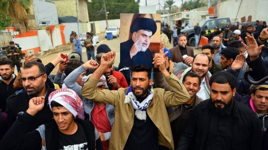 Moqtada al-Sadr é um dos mentores de manifestações recentes contra o governo iraquiano - AFP