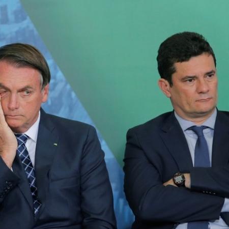 Presidente Jair Bolsonaro e ministro da Justiça e Segurança Pública, Sergio Moro - ADRIANO MACHADO