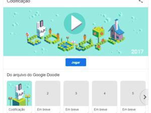 Exemplo da tela do Google Doodles - Reprodução/Google - Reprodução/Google