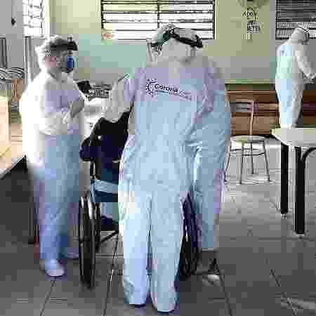 Iniciativa leva testes para asilo de Piracicaba (SP) após oito mortes - Divulgação
