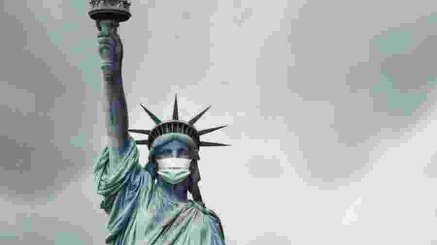 Na quarta-feira, Estados Unidos ultrapassaram a barreira de 100 mil mortes pelo novo coronavírus - Getty Images