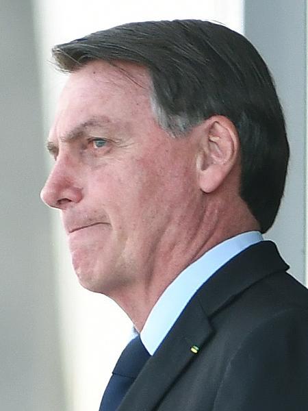 5.jun.2020 - Presidente Jair Bolsonaro na rampa do Palácio do Planalto  - Edu Andrade / Estadão Conteúdo