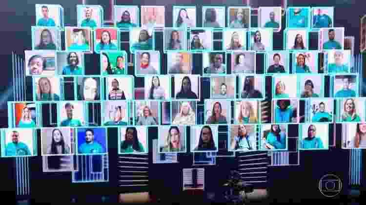 Plateia virtual Faustão - Reprodução/Globo - Reprodução/Globo