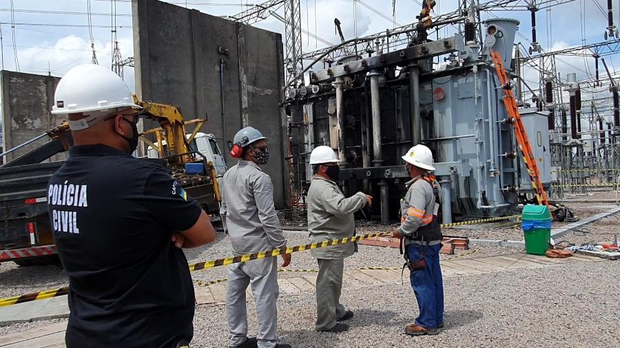 Apagão rendeu multa de R$ 3,67 mi à Linhas do Macapá Transmissora de Energia (LMTE), da Gemini Energy - Divulgação/Polícia Civil