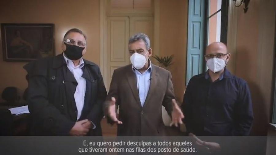 Prefeito de Porto Alegre pede desculpas pelas filas na vacinação contra a covid - Reprodução/ Twitter