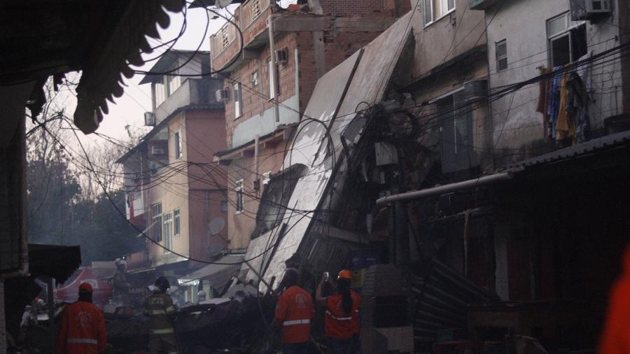 No dia 3 de junho, um prédio residencial de quatro andares em Rio das Pedras desabou - José Lucena/TheNews2/Estadão Conteúdo