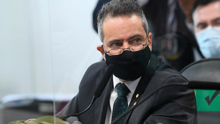 Ex-secretário-executivo do Ministério da Saúde, coronel Elcio Franco, em depoimento na CPI da Covid - Marcos Oliveira/Agência Senado