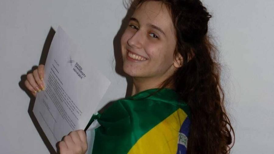 A estudante brasileira Rhayssa Braz que ganhou bolsa em 10 universidades internacionais - Arquivo Pessoal/Igor Caminada.