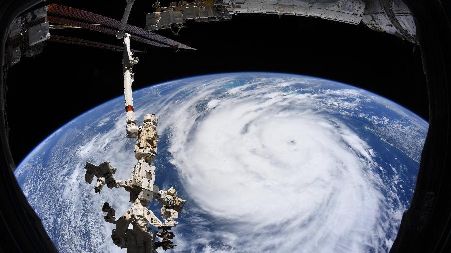 Olho do furacão Ida registrado pelo astronauta Thomas Pesquet, da ISS - Thomas Pesquet/ESA