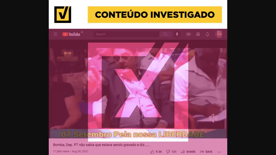 8.set.2021 - Vídeo tira fala de contexto para sugerir que STF poderia manipular eleição - Reprodução/Projeto Comprova