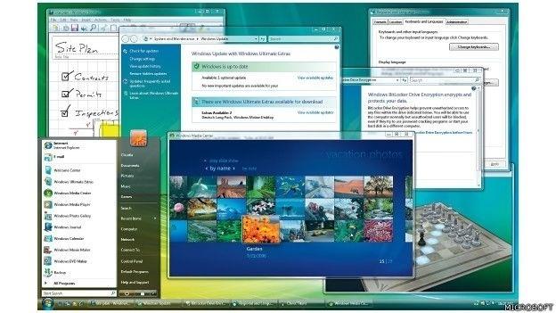 O Windows Vista estava disponível em 35 idiomas. Incluiu melhorias na proteção de dados, motivadas pelo avanço na venda de equipamentos portáteis e novas demandas de segurança