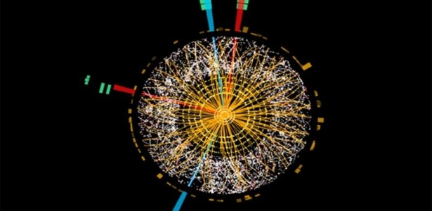 Imagem do Bóson de Higgs divulgada nesta terça-feira (1) mostra uma conjunção de dados e fenômenos observados em 2012 - Divulgação/CERN
