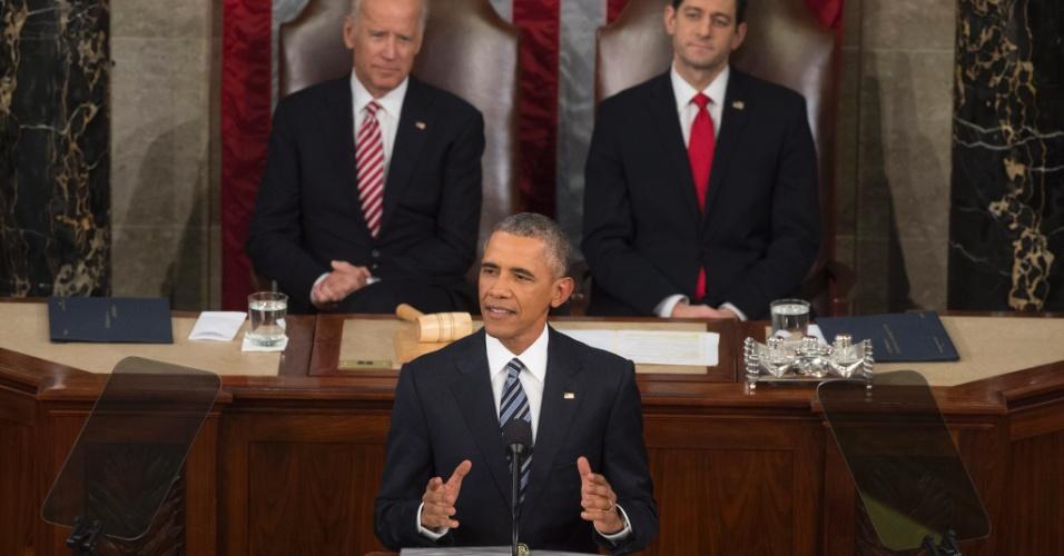 13.jan.2016 - O presidente dos Estados Unidos, Barack Obama, defendeu que os partidos