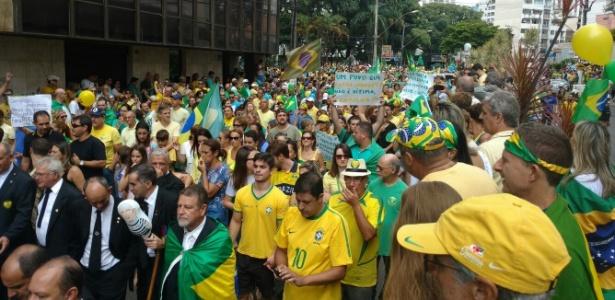 Em Minas, PM conta 22 mil em Uberlândia e 20 mil em Juiz de Fora  - Julio Cesar Pinto/Via WhatsApp