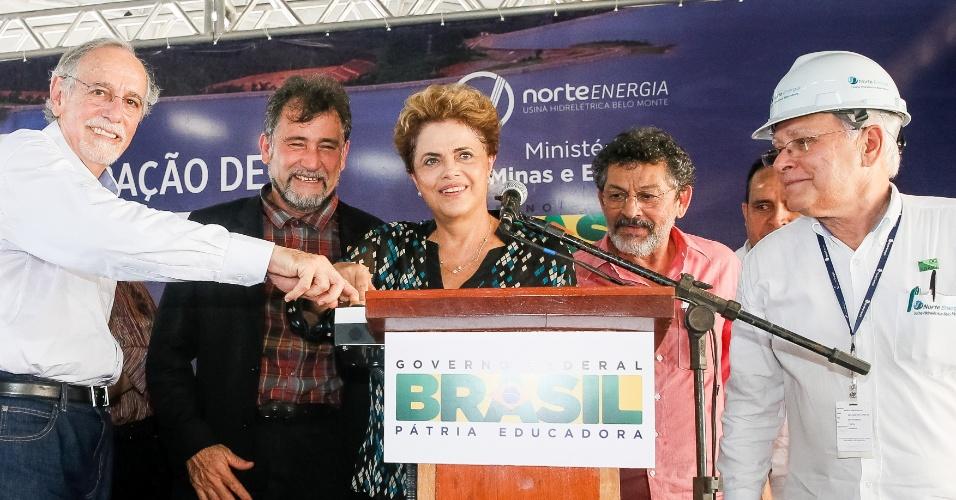 5.mai.2016 - Em inauguração da atividade comercial da Usina de Belo Monte, no Pará, a presidente Dilma Rousseff disse que o processo de impeachment sofrido por ela é