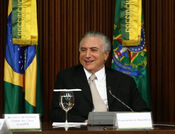 Michel Temer faz primeira reunião ministerial após ser efetivado presidente da República, no Palácio do Planalto, em Brasília