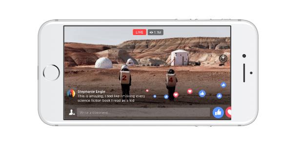 Facebook com vídeos ao vivo em 360°