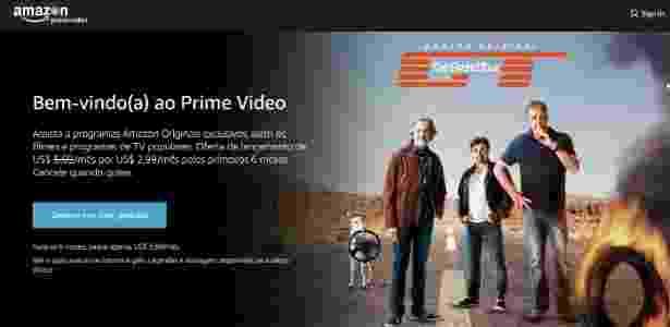 Tela inicial da Amazon Prime Video - Reprodução - Reprodução