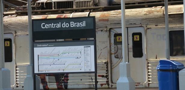 Estação ferroviária da Central do Brasil, na zona portuária do Rio de Janeiro