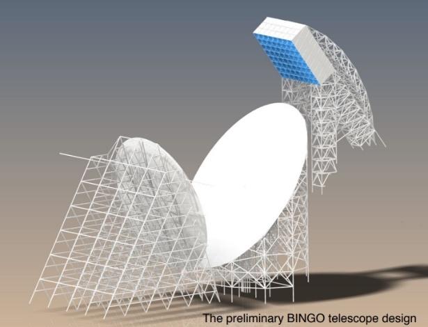 Radiotelescópio Bingo será construído em uma área na serra do Urubu, no sertão da Paraíba - Divulgação