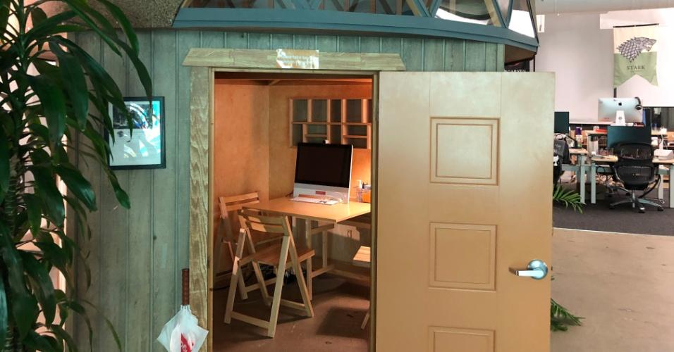 Cada sala de reunião representa uma casa real do Airbnb - este é um incrível iglu