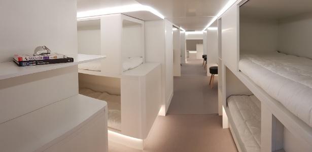Compartimento de carga de aviões da Airbus terá local para cochilo