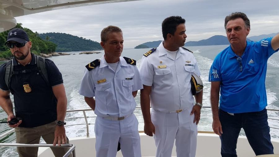 Jair Bolsonaro deixa a ilha de Marambaia, onde descansou por 5 dias  - Divulgação