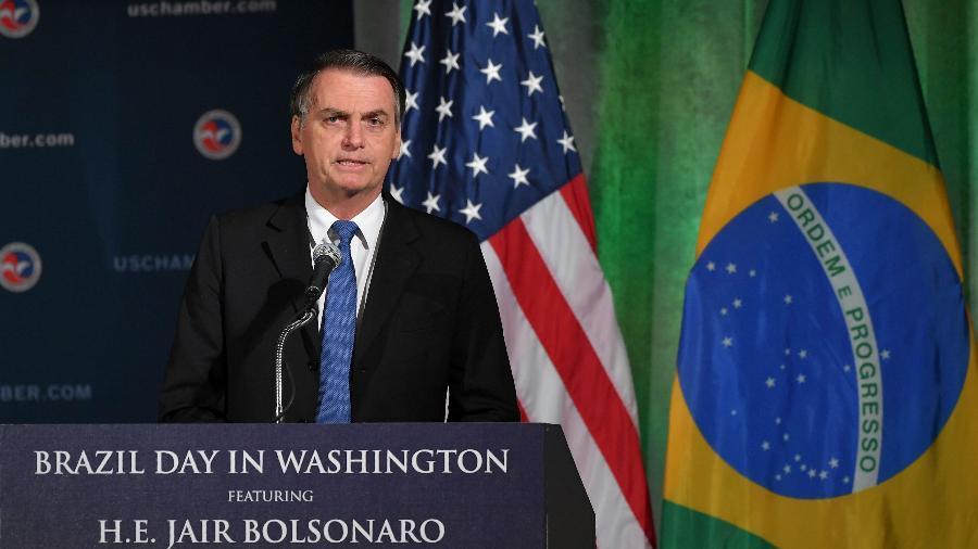 Assinatura do acordo foi um dos principais pontos da visita de Bolsonaro aos EUA - Mandel Ngan/AFB