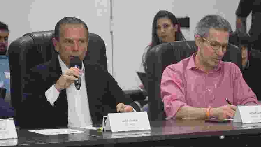 27.abr.2019 - O governador do Estado de São Paulo, João Dória, e o governador de Minas Gerais, Romeu Zema - Mister Shadow/ASI/Estadão Conteúdo