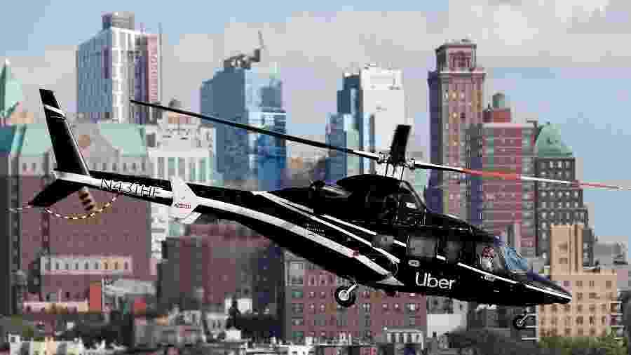 Helicóptero da Uber em Nova York; serviço Uber Copter ainda não tem no Brasil - Mike Segar - 2.out.2019/Reuters