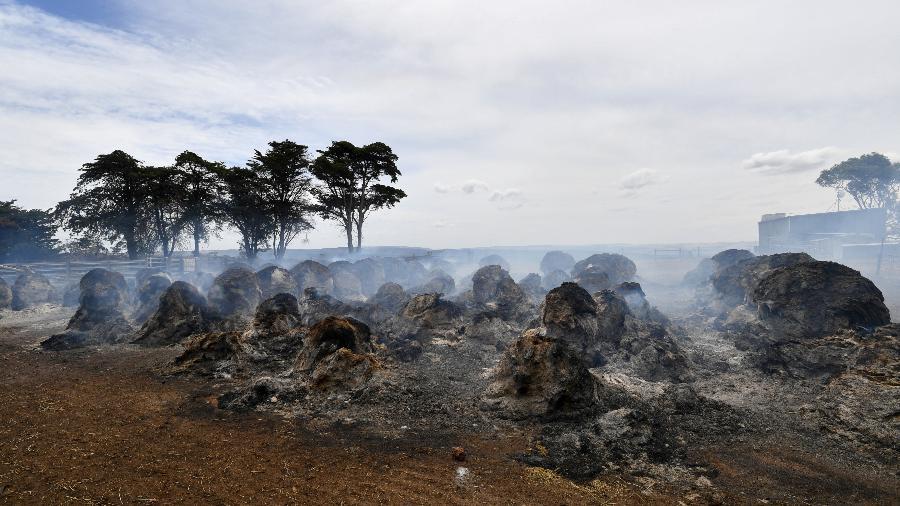 Fumaça após incêndio em Kangaroo Island, sudoeste de Adelaide, na Austrália - Reuters