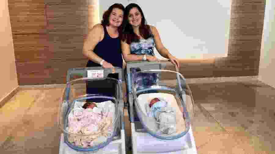As irmãs dizem que não planejaram engravidar no mesmo período e tampouco o dia em que os filhos nasceriam - Arquivo pessoal