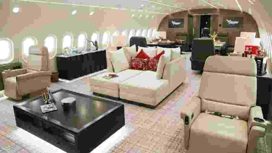 Boeing 787 executivo utilizado pela Flapper - Divulgação