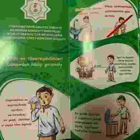 Em fevereiro, hospitais turcomenos tinham folhetos sobre o coronavírus, mas eles foram removidos - BBC