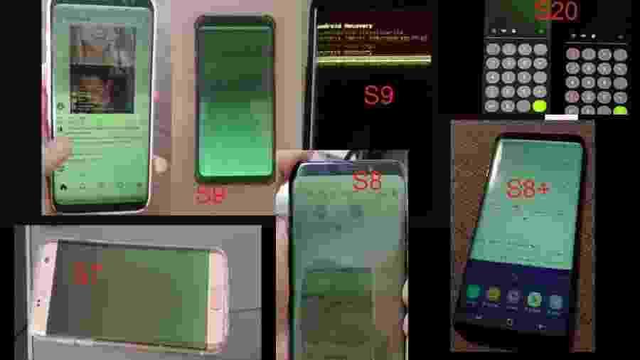 Tela verde tem aparecido em diversos celulares da Samsung após atualização do Android - Arquivo pessoal