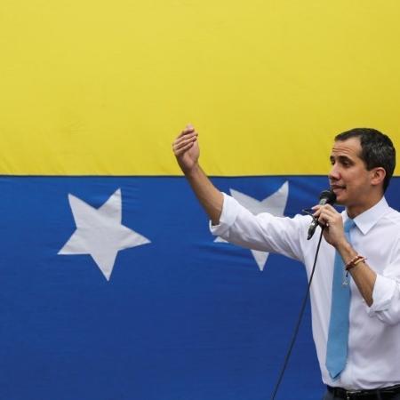 Juan Guaidó em Caracas -