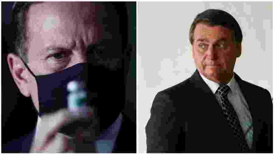 Bolsonaro deixou claro que decisão de suspender parceria com farmacêutica chinesa está relacionada a desacordo com o governador de São Paulo, João Doria - Divulgação/Governo de São Paulo/Reuters