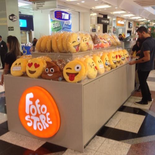 Fofostore chega ao primeiro milhão com almofada de emoticons: primeiro quiosque inaugurado em Belo Horizonte