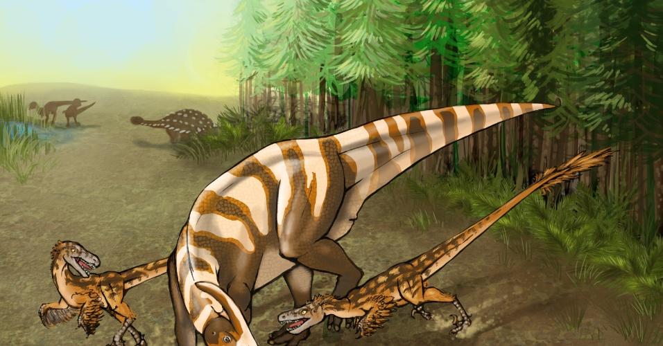 O paleontólogo Steven Jasinski, da Universidade da Pensilvânia, nos Estados Unidos, descreveu a nova espécie Saurornitholestes sullivani, em 12 de maio. Ele teria vivido há aproximadamente 75 milhões de anos, na região do Novo México, nos EUA. O nome da nova espécie homenageia o paleontólogo Robert Sullivan, que encontrou parte do crânio do dinossauro, em 1999. A nova espécie, acredita-se, tinha um faro muito bom, o que a levava a ser uma boa caçadora. O Saurornitholestes sullivani é considerado um parente do velociraptor